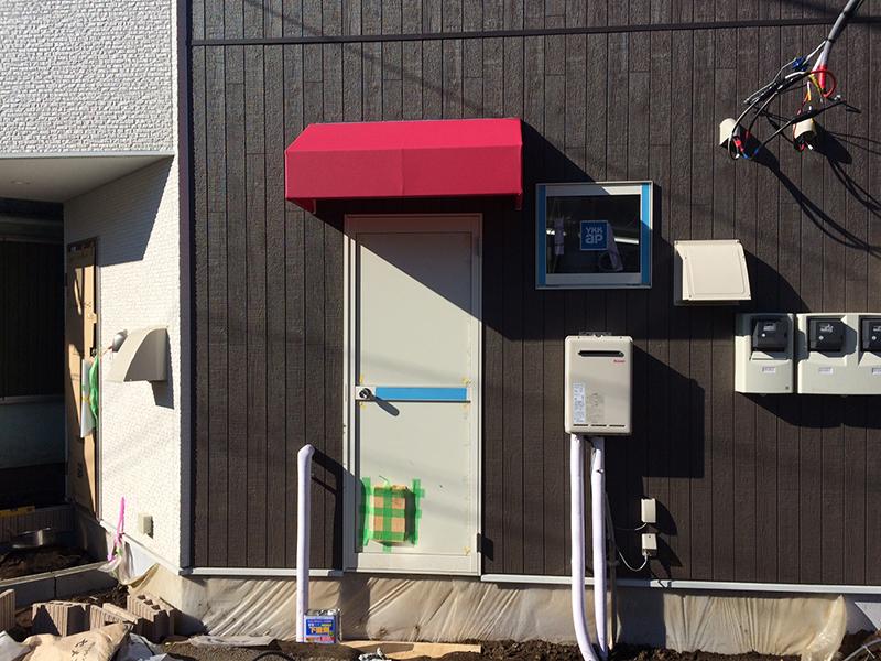 所沢市 固定デザインテント新規工事