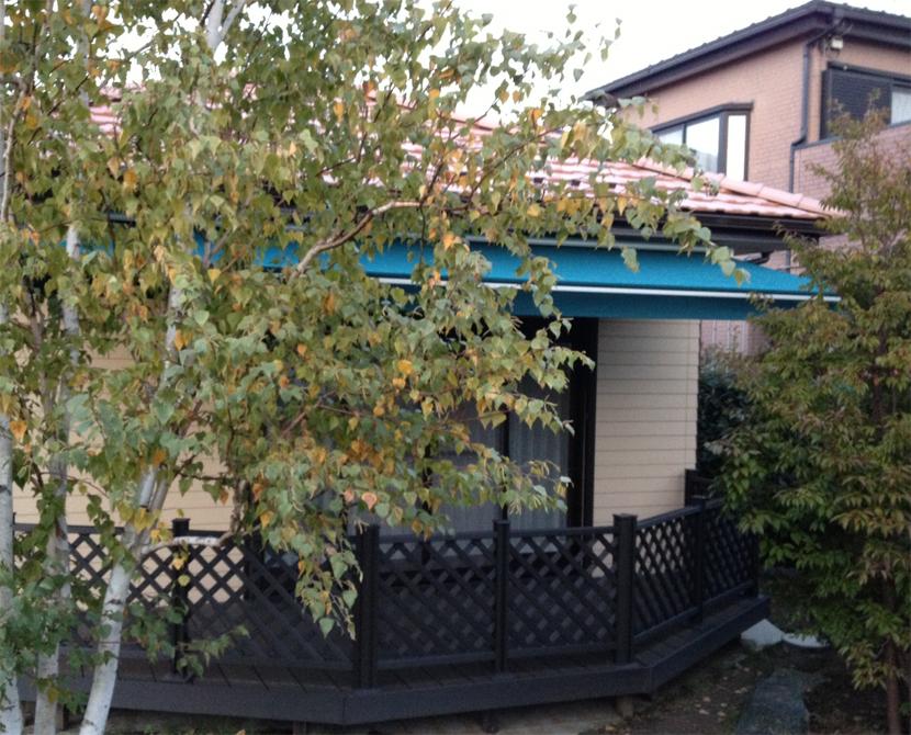 埼玉県加須市で個人宅のオーニングテント新規工事を行いました。